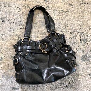 Kooba Leather Two Strap Satchel